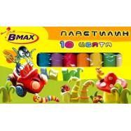 ПЛАСТЕЛИН B-MAX 10 цвята