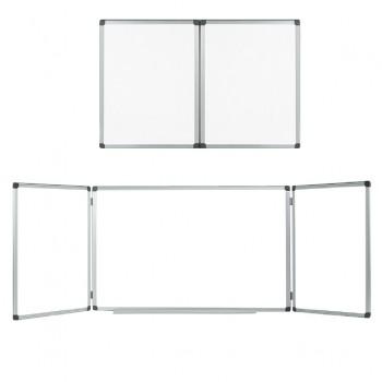 Тройна бяла дъска Немагнитна Bi-Office 120x180/120x360 cm