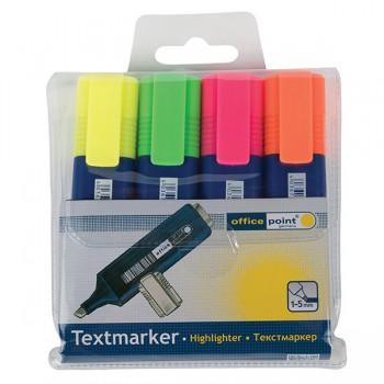 Текст маркер Office point Комплект 4 цвята
