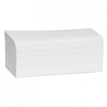 Сгънати кърпи за ръце V-образни, целулоза, двупластови 21x25 cm 200 бр. Бели
